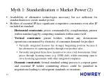myth 1 standardisation market power 2