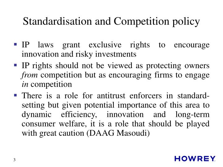 Standardisation and competition policy