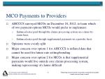 mco payments to providers