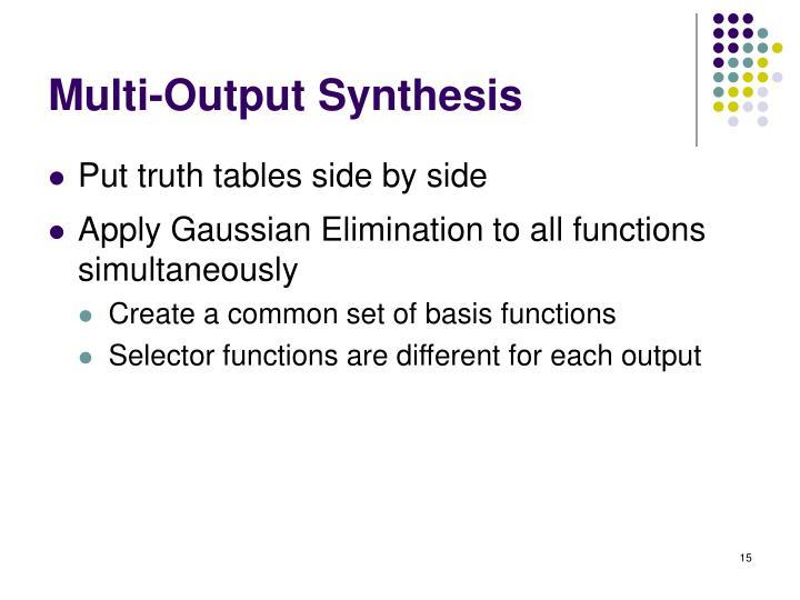 Multi-Output Synthesis