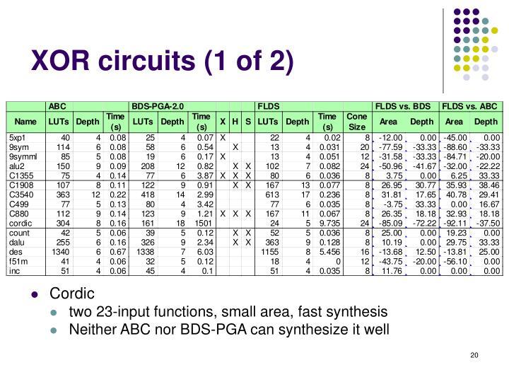 XOR circuits (1 of 2)