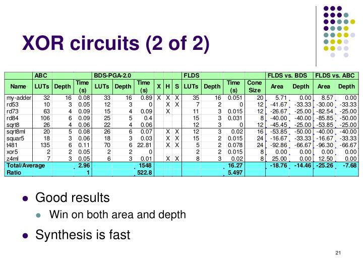 XOR circuits (2 of 2)