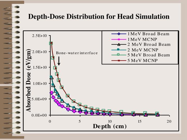 Depth-Dose Distribution for Head Simulation