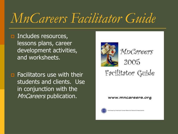 MnCareers Facilitator Guide