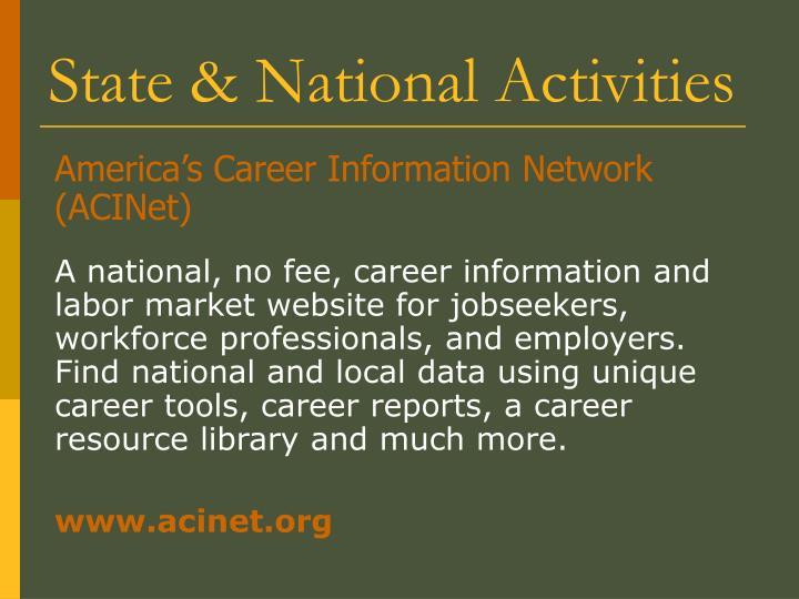 America's Career Information Network (ACINet)