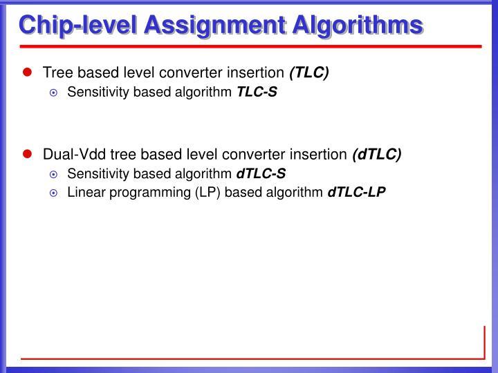 Chip-level Assignment Algorithms