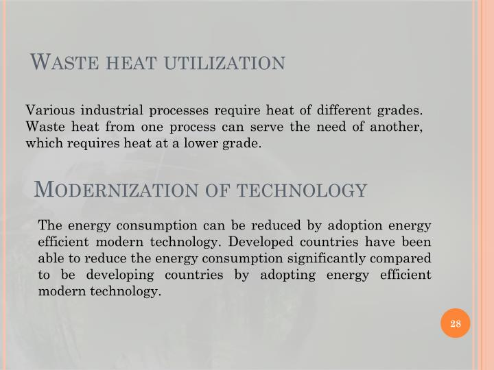 Waste heat utilization