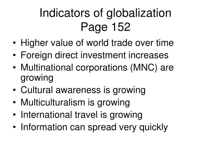 Indicators of globalization