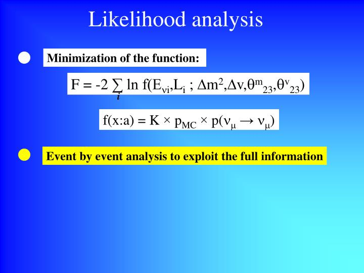 Likelihood analysis