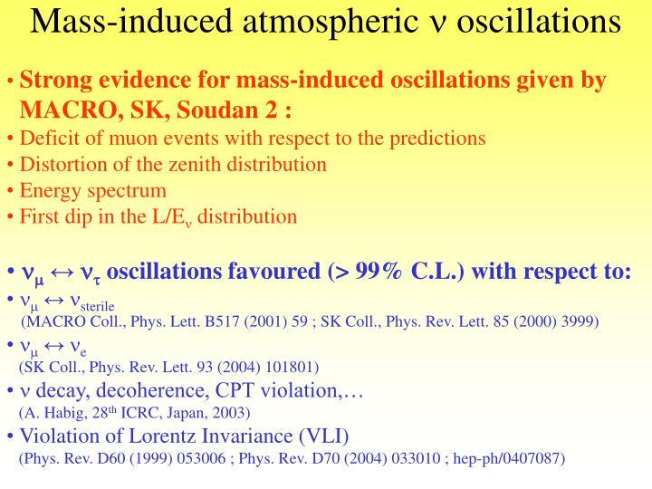 Mass-induced atmospheric