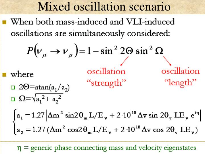 Mixed oscillation scenario