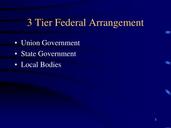 3 tier federal arrangement