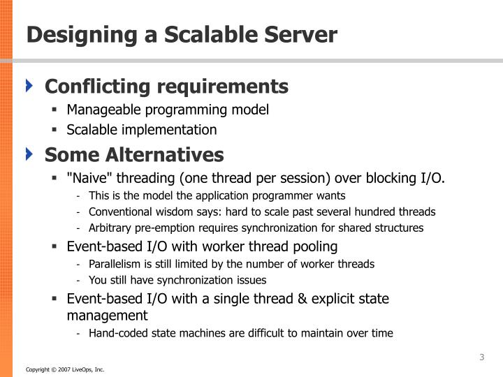 Designing a scalable server