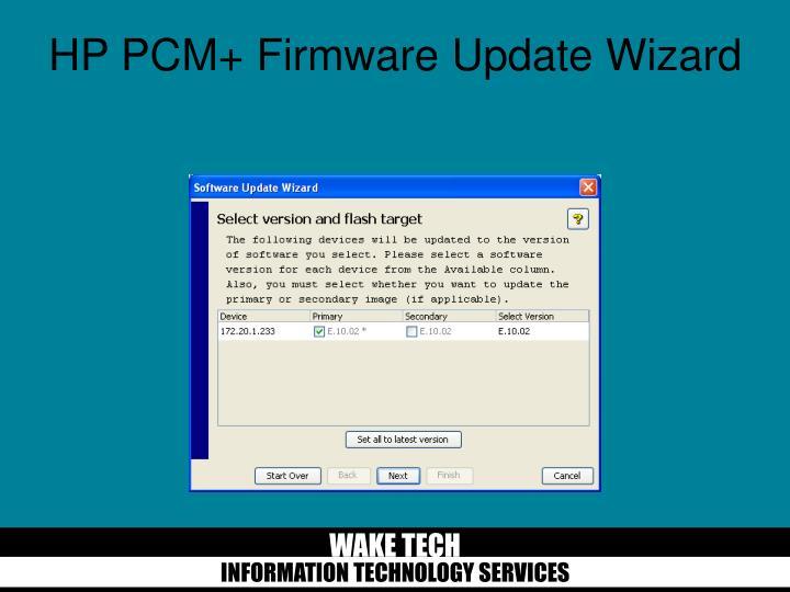 HP PCM+ Firmware Update Wizard