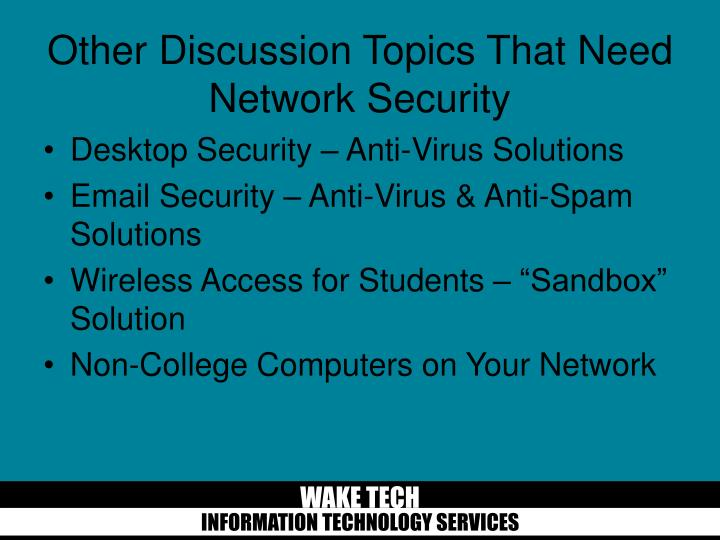 Desktop Security – Anti-Virus Solutions