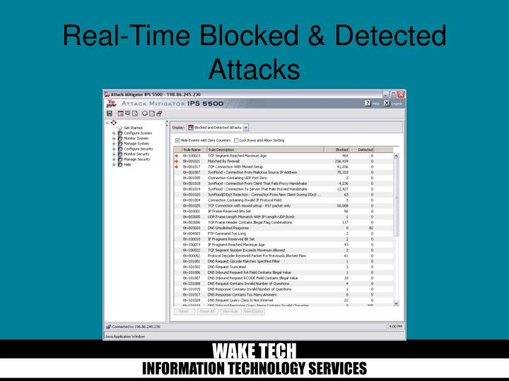Real-Time Blocked & Detected Attacks