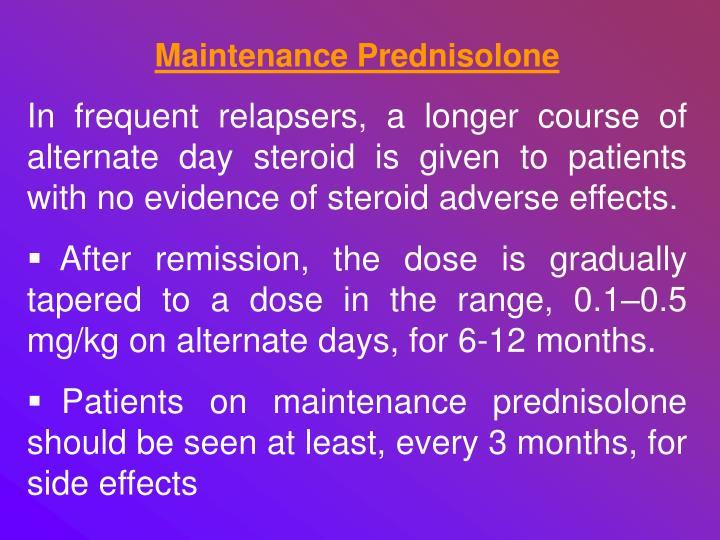 Maintenance Prednisolone