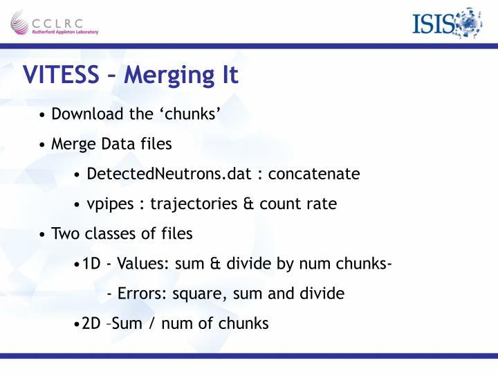VITESS – Merging It