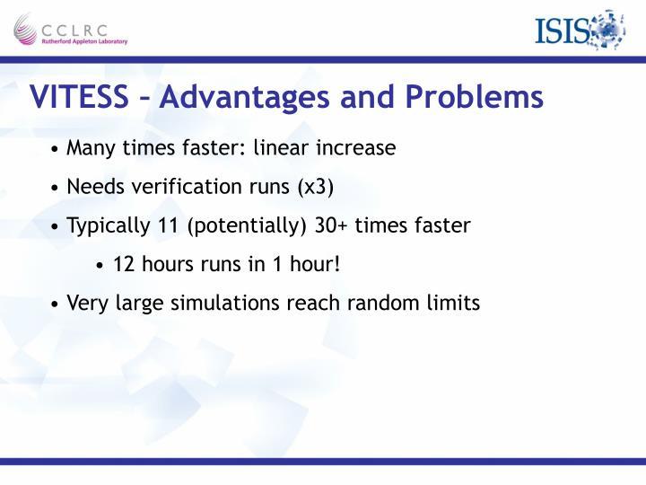 VITESS – Advantages and Problems