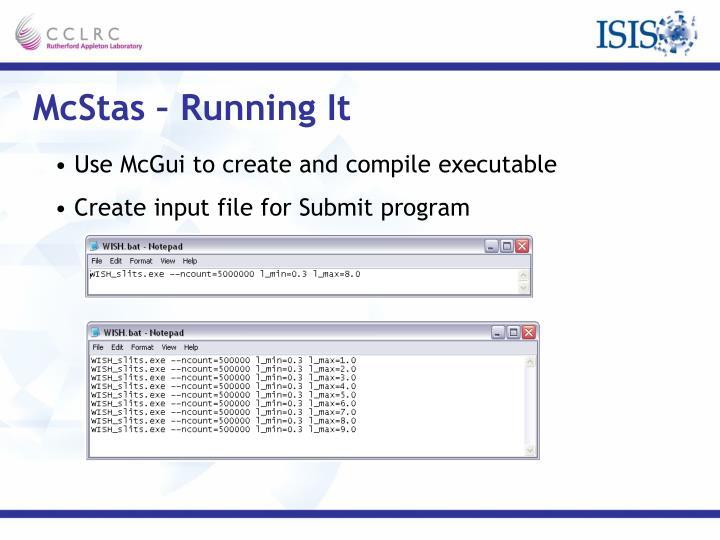 McStas – Running It