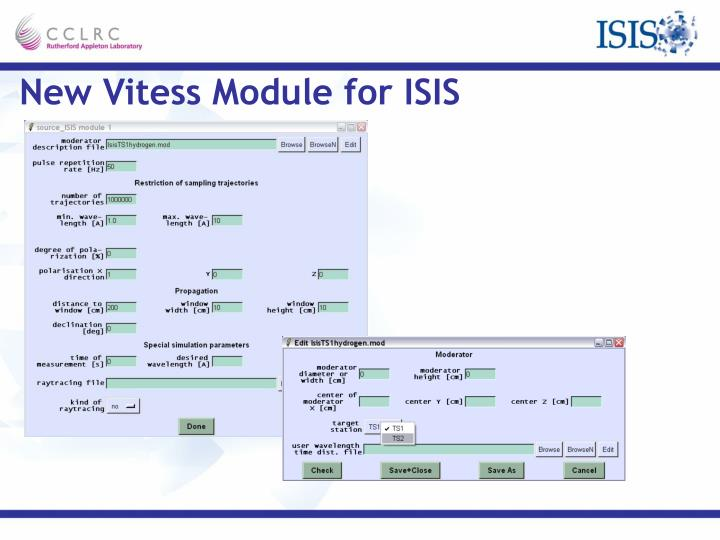 New Vitess Module for ISIS