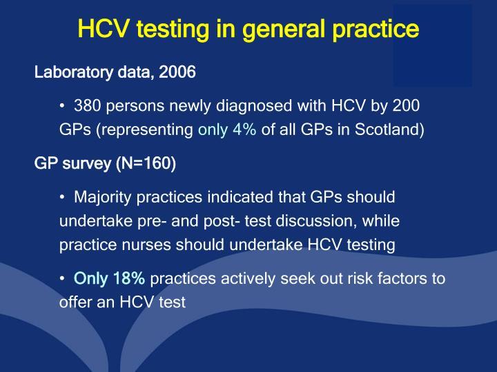 HCV testing in general practice