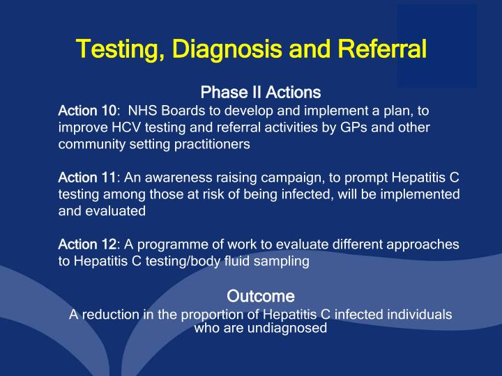 Testing, Diagnosis and Referral