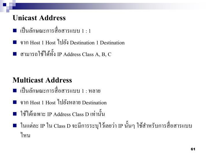 Unicast Address