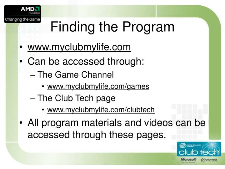 Finding the Program