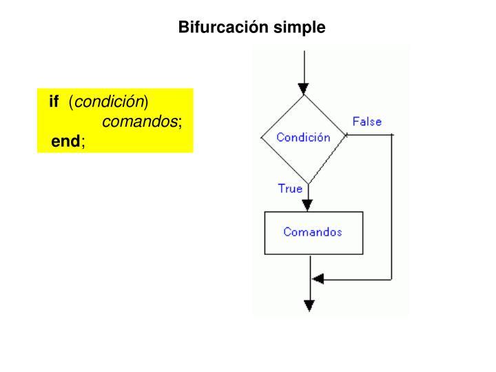 Bifurcación simple