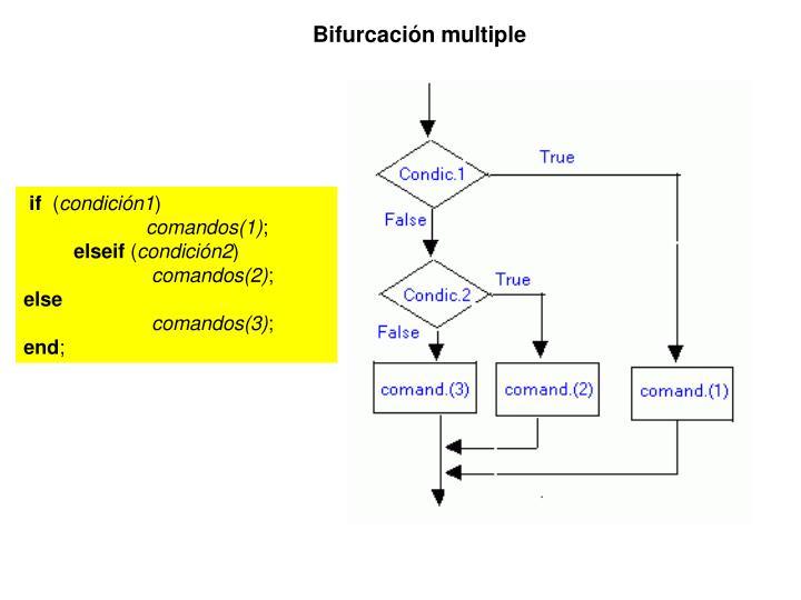 Bifurcación multiple