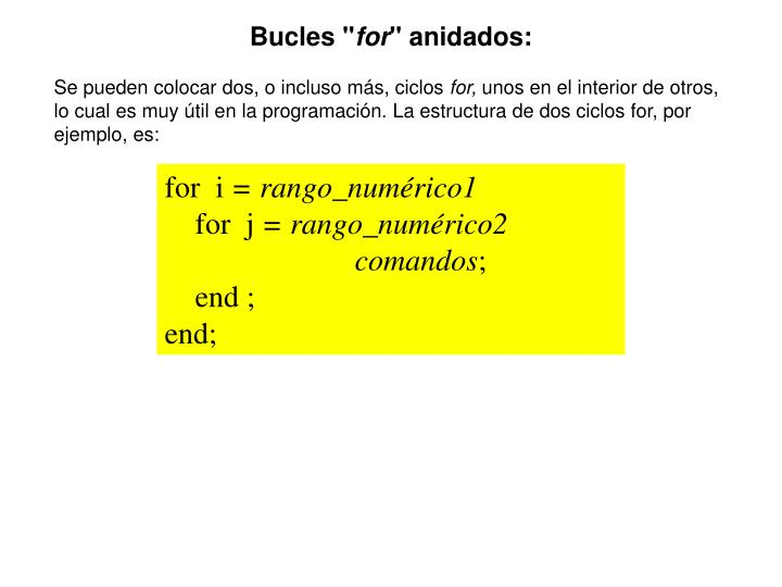 """Bucles """""""