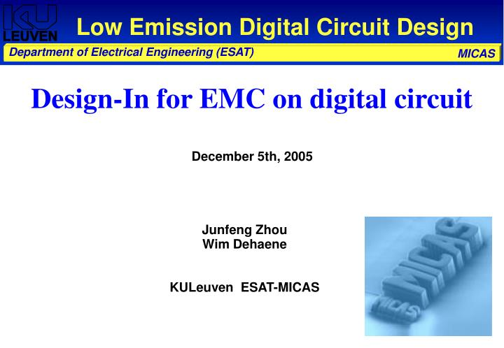 Low emission digital circuit design