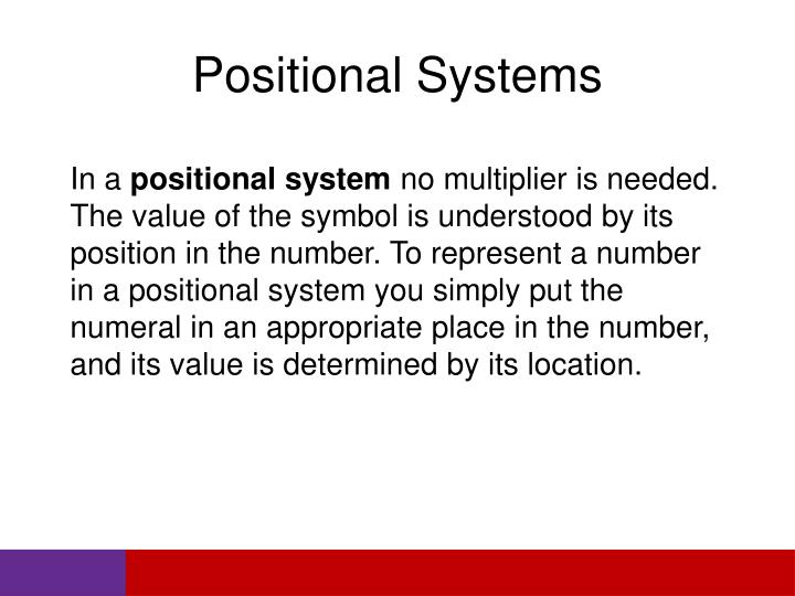 Positional Systems