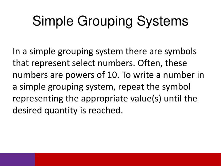 Simple Grouping Systems