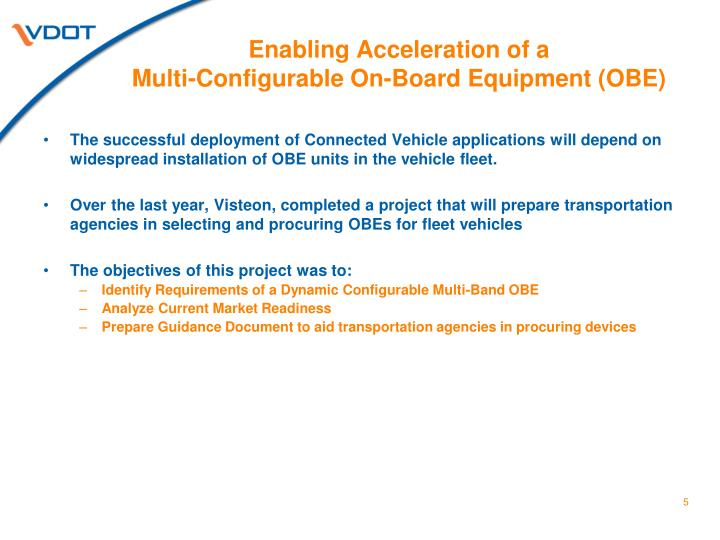 Enabling Acceleration of a
