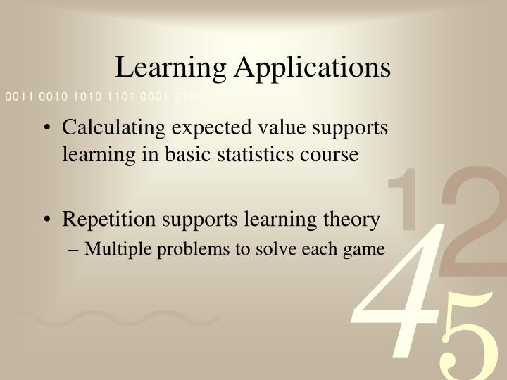 Learning Applications