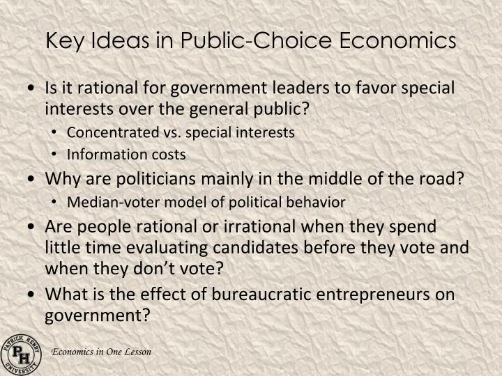 Key Ideas in Public-Choice Economics