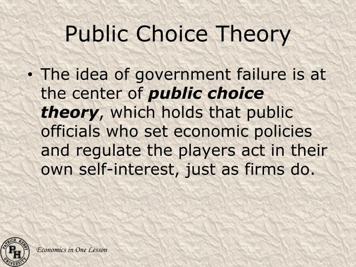 Public Choice Theory