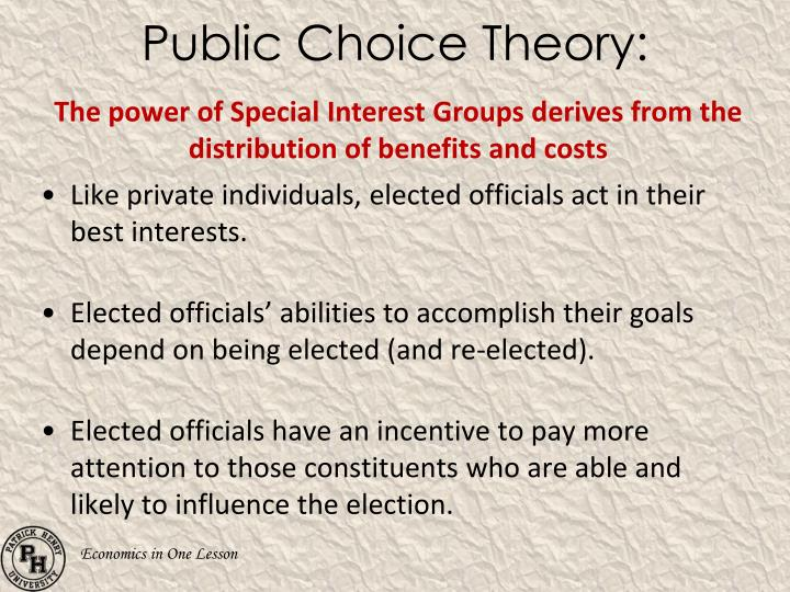 Public Choice Theory: