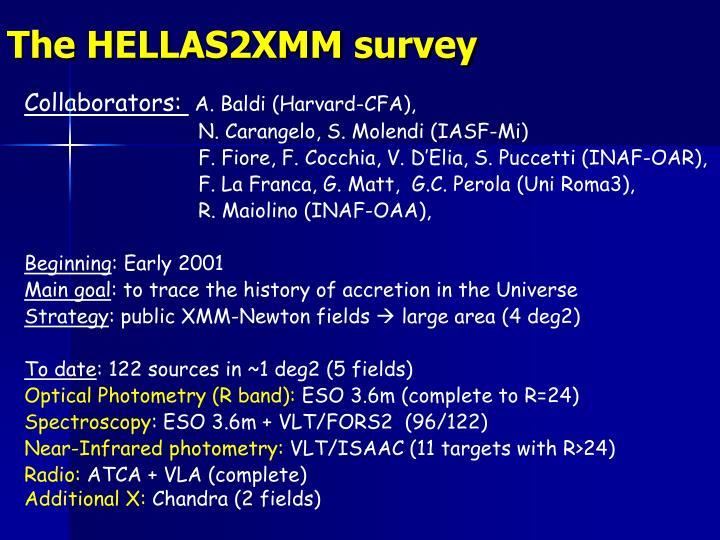 The HELLAS2XMM survey