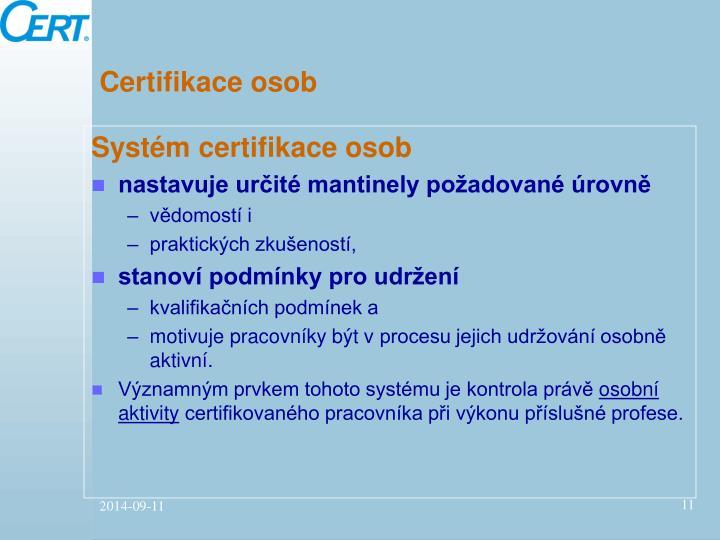 Certifikace osob