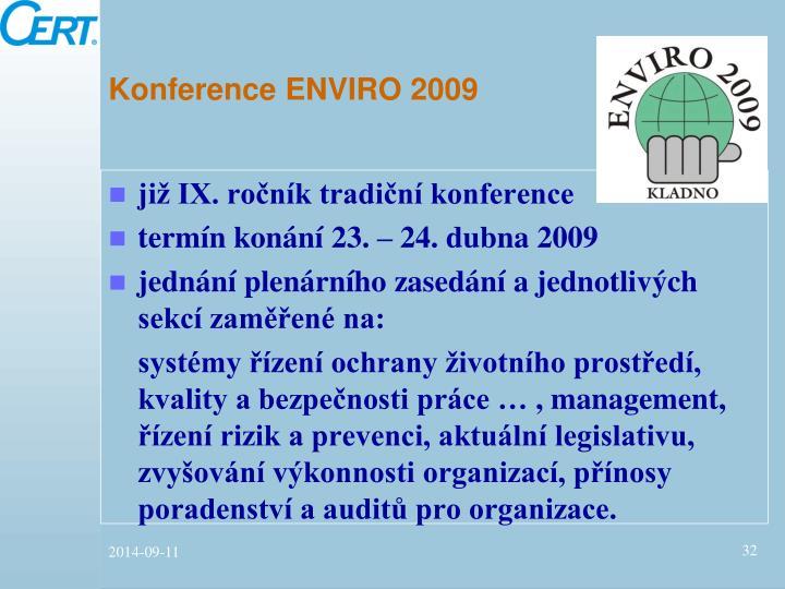Konference ENVIRO 2009