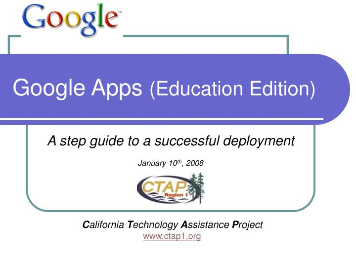 Google apps education edition