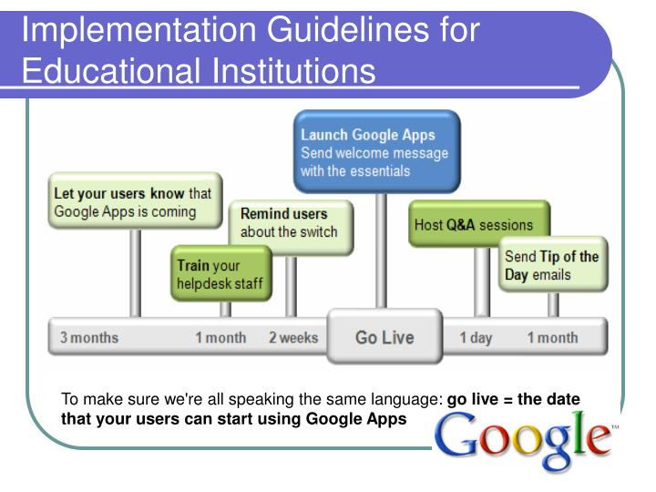 Implementation Guidelines for Educational Institutions