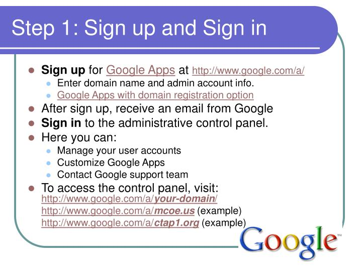 Step 1: Sign up and Sign in