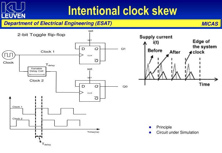 Intentional clock skew