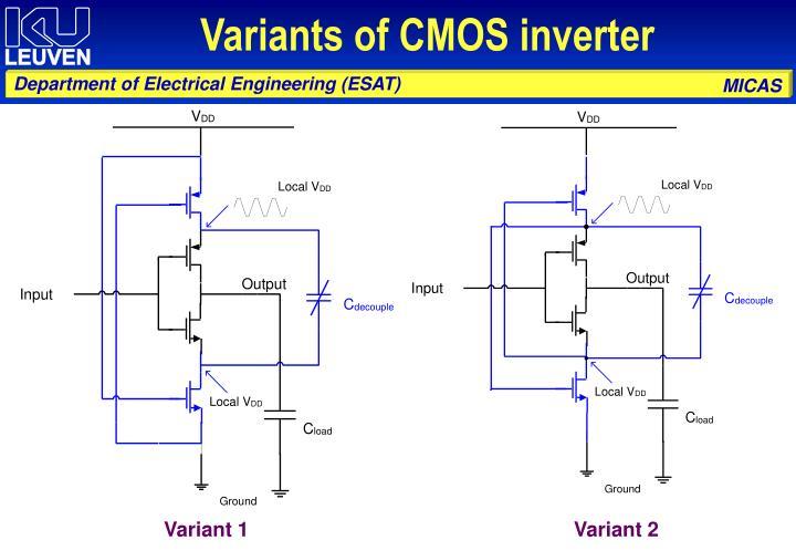 Variants of CMOS inverter