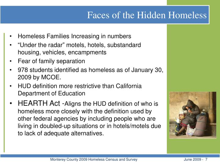 Faces of the Hidden Homeless