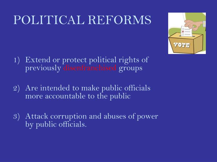 Political reforms